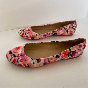 MIx No. 6 Danzey Watercolor Floral Flats - Sz 8